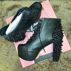 Jeffrey Campbell Lita Black Spike Boots Size 11